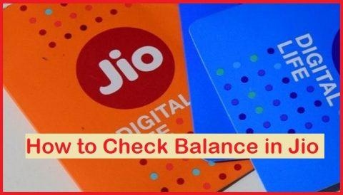 check balance in jio